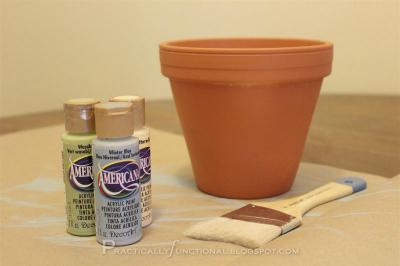 The beginnings of a cute flower pot
