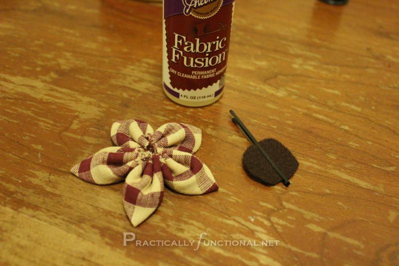 Fabric flower tutorial: Felt Back