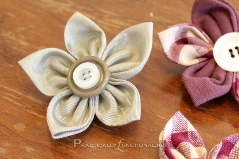 Practically Functional Fabric Flowers