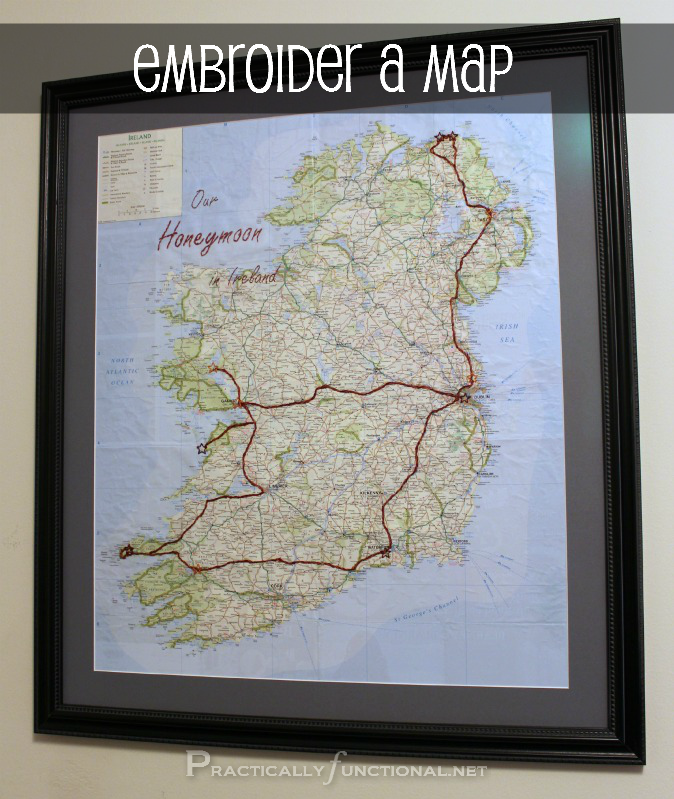Embroider A Map To Commemorate A Trip