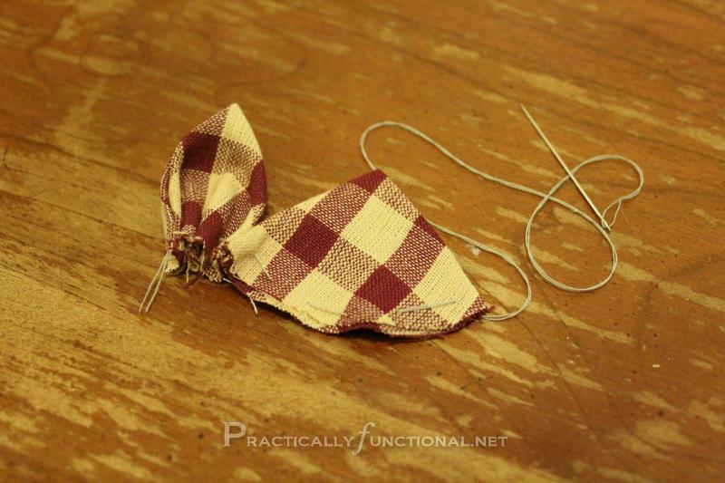 Fabric flower tutorial: Second Petal
