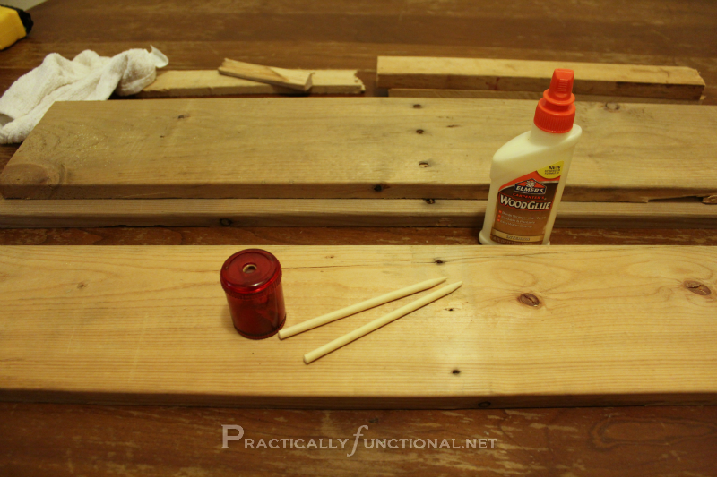 How to fix nail or screw holes in wood! {Tutorial from Practically Functional}