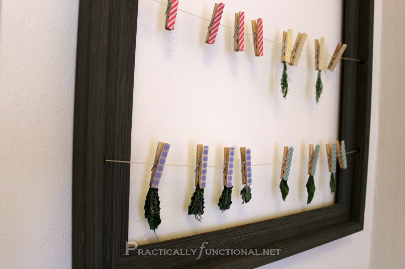 Organize With Washi Tape Clothespins