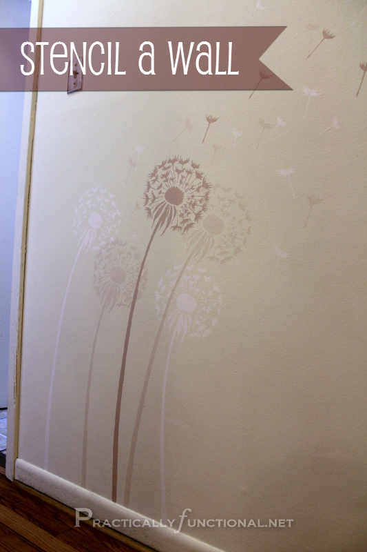 Stencil a wall