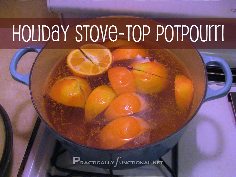 Holiday potpourri simmer pot recipes!