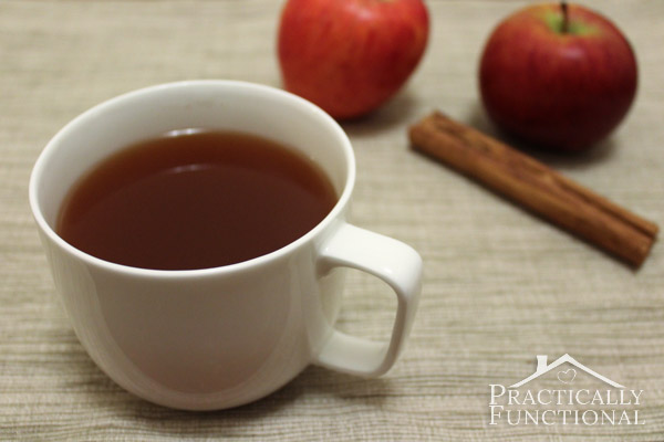 Caramel Apple Spice In The Slow Cooker: This Starbucks copycat is just as delicious and way less expensive! Perfect fall drink!