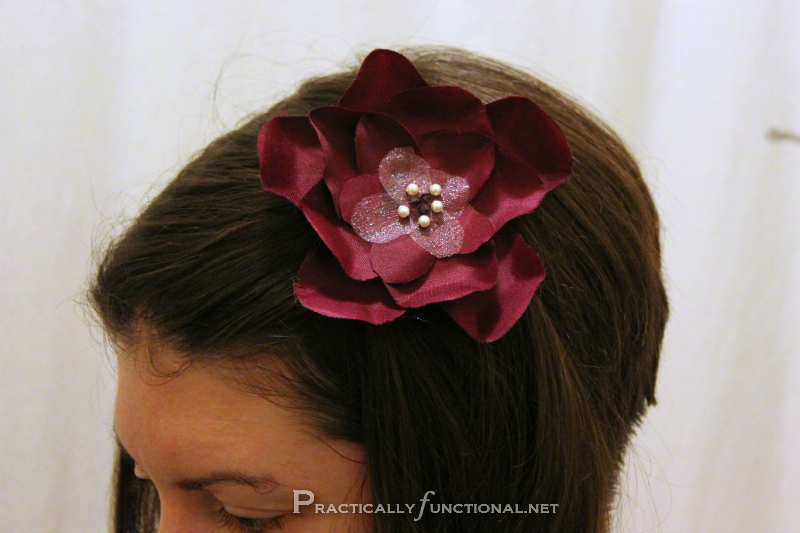 Simple flower hair clips practically functional flower hair clip mightylinksfo