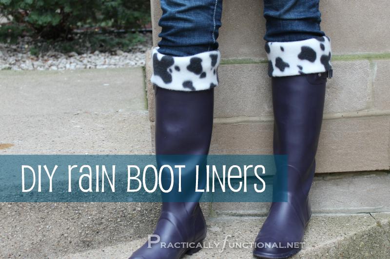 DIY Rain Boot Liners