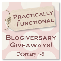 Practically Functional Blogiversary Giveaways