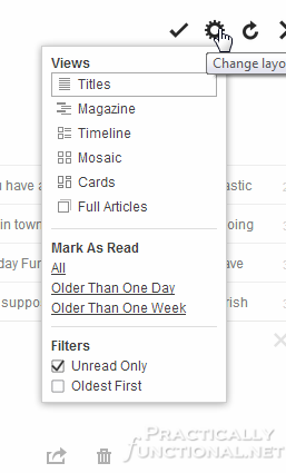 Google Reader Alternatives: Feedly Layout Settings
