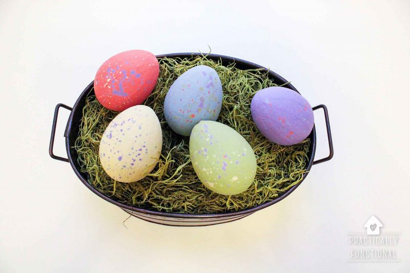 Painted Paper Mache Easter Eggs