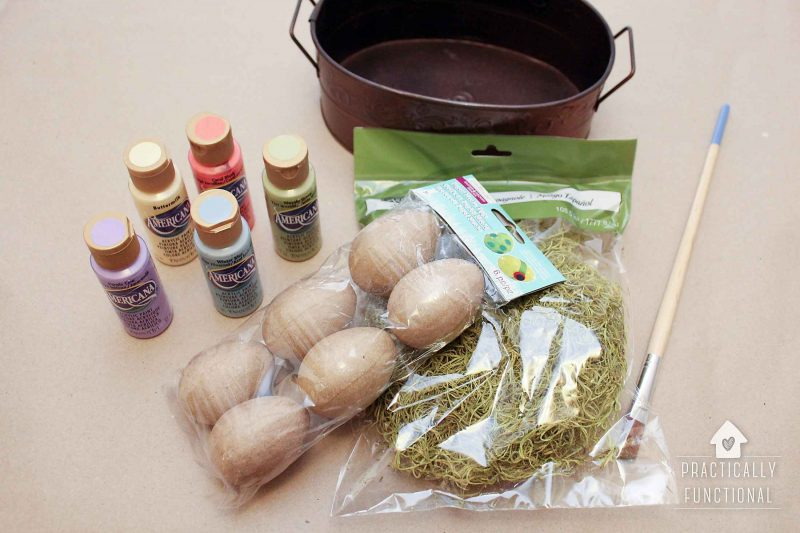 Painted Paper Mache Easter Eggs - Supplies