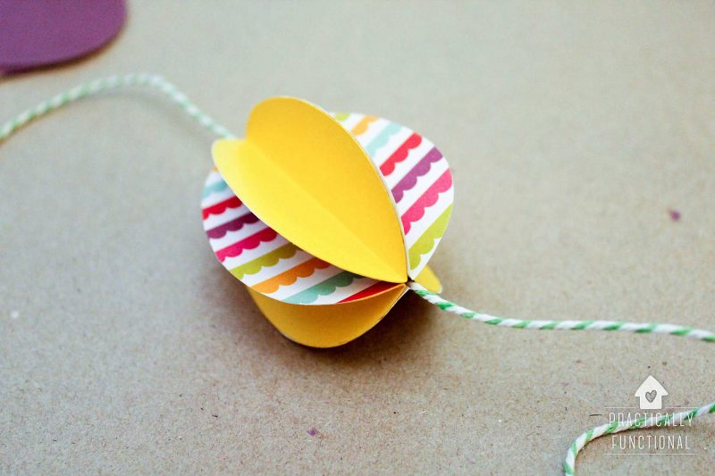 Practically Functional: Paper Easter Egg Garland - Paper egg