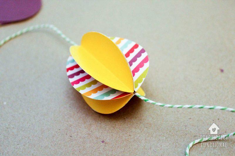 Practically Functional: Paper Easter Egg Garland - Paper egg