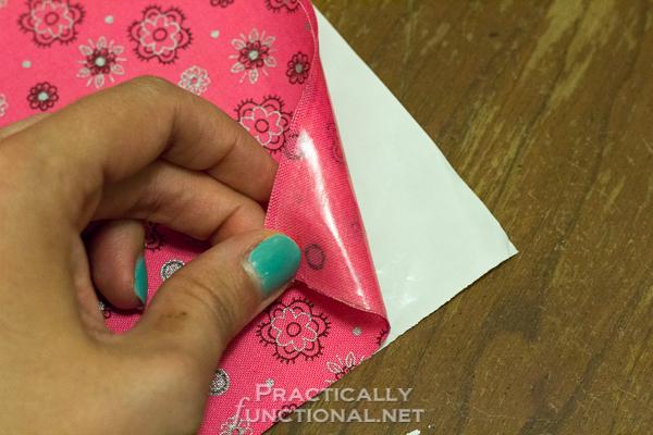 DIY No Sew Summer Flower Bunting - Separating interfacing