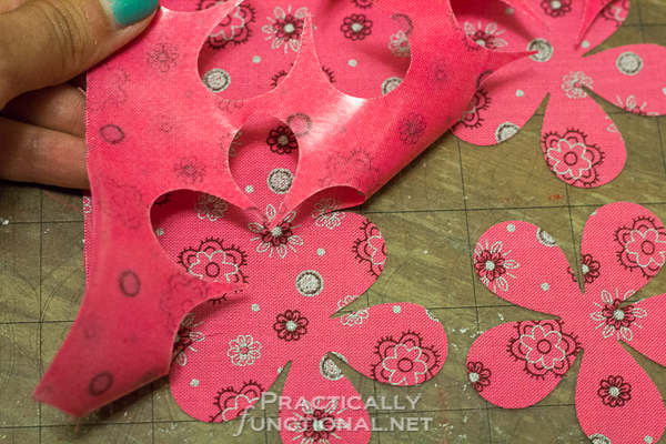 DIY No Sew Summer Flower Bunting - Clean cut edges