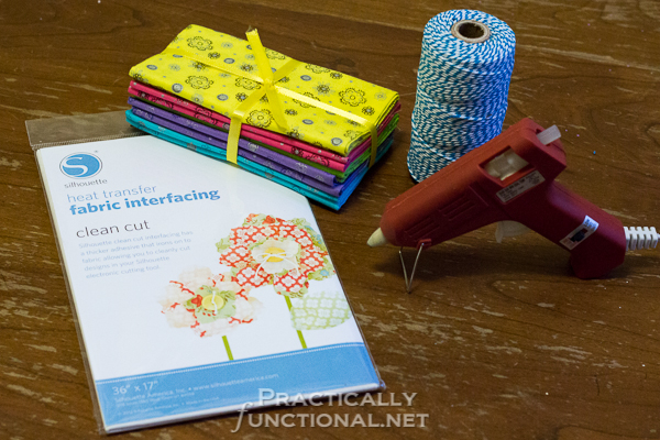 DIY No Sew Summer Flower Bunting - Materials
