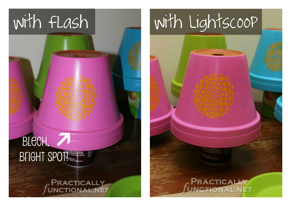 Fix bright flash spots in your photos with Lightscoop! Enter to win one at PracticallyFunctional.net
