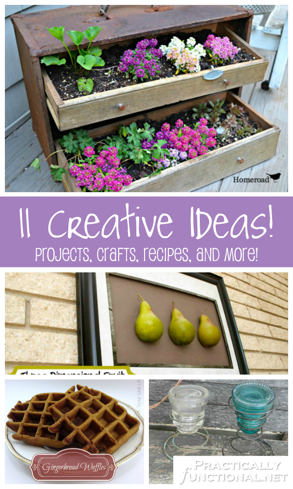 Round-up of 11 creative ideas: Projects, crafts, recipe, and more!