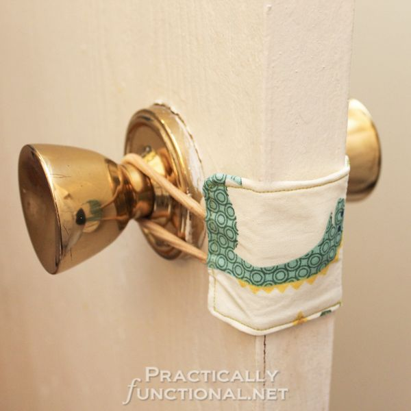 Make your own nursery door latch cover so you donu0027t wake the baby when & DIY Nursery Door Latch Cover