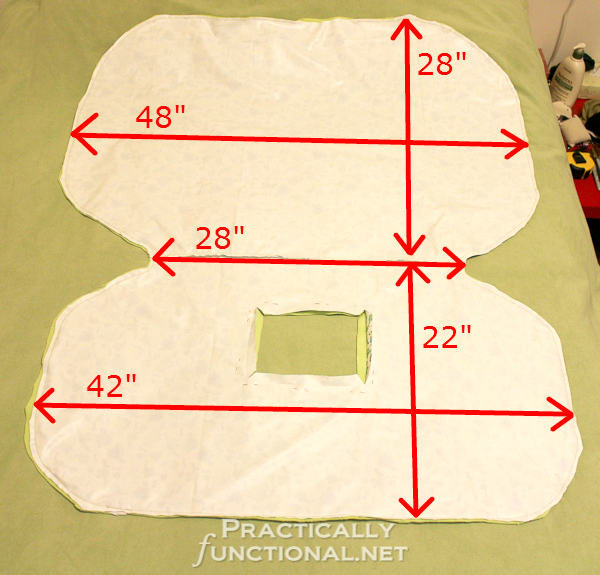 Make your own waterproof car seat canopy Approximate measurements  sc 1 st  Practically Functional & DIY Waterproof Car Seat Canopy!