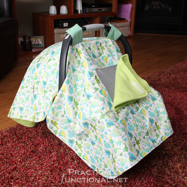 Make your own waterproof car seat canopy with this tutorial! & DIY Waterproof Car Seat Canopy!