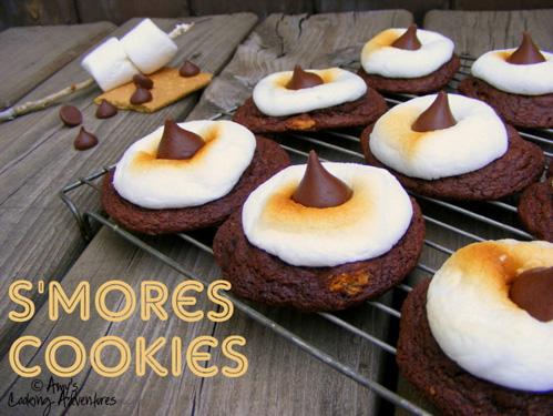 S'mores Cookies 2 (c)Amy's Cooking Adventures-2