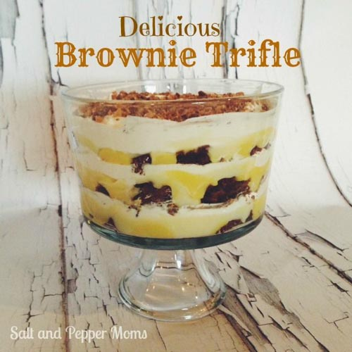 Brownie Trifle from Salt And Pepper Moms