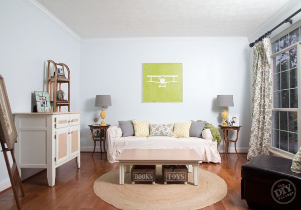 Quick Living Room Makeover With Paint from The DIY Village