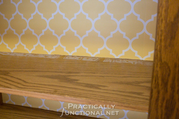 Rental Friendly Kitchen Update: Wallpaper your cabinets