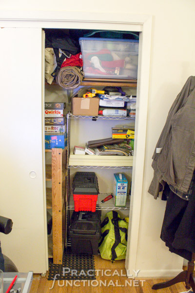 Small Apartment Solutions - Closet Organization: Before