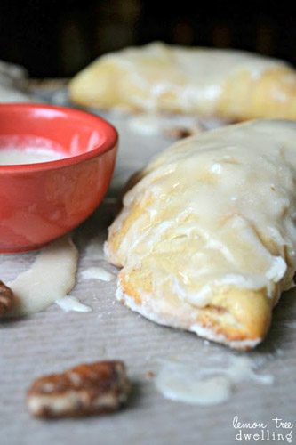 Cinnamon Sweet Roll Hand Pies with Vanilla Icing from Lemon Tree Dwelling