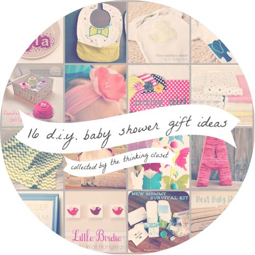 16 DIY Baby Shower Gift Ideas: A Roundup from The Thinking Closet