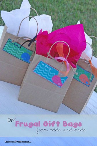 DIY Gift Bags From Odds And Ends from One Creative Mommy