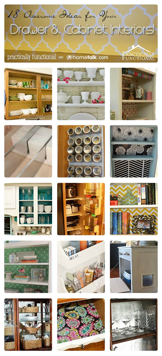 Incroyable 18 Ways To Decorate And Organize The Insides Of Your Drawers And Cabinets!