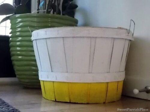 Bushel Basket Makeover from Sweet Parrish Place