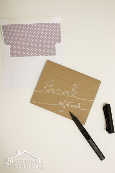 DIY Thank You Cards with Silhouette Sketch Pens