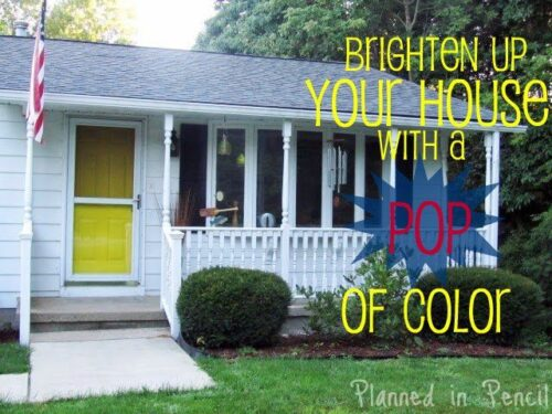 Paint Your Front Door from Planned In Pencil