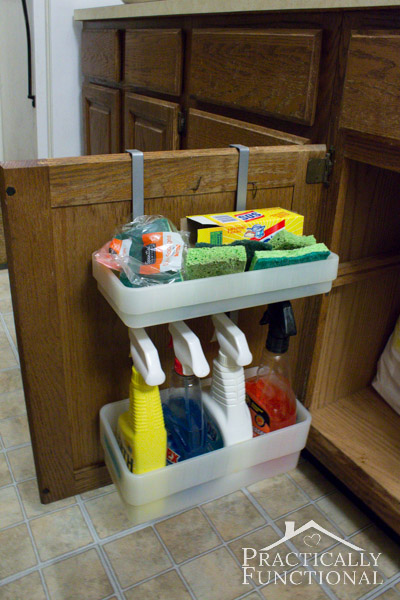 Kitchen Tour: Utilize the inside of your cabinet doors for storage