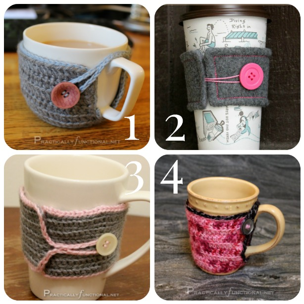 DIY Coffee Cozy: 4 different styles