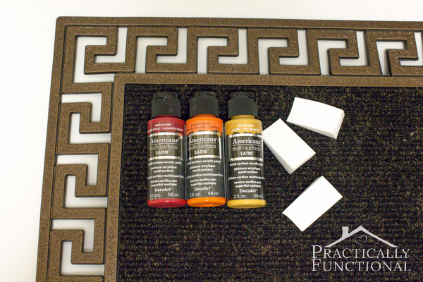 DIY Stenciled Fall Welcome Mat: Materials