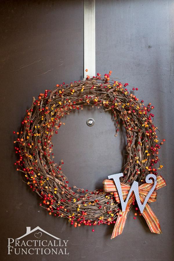Simple Fall Monogram Wreath
