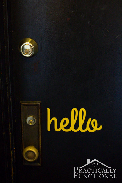 Diy Hello Door Vinyl