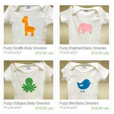 Fuzzy Baby Animal Onesies Etsy Listing