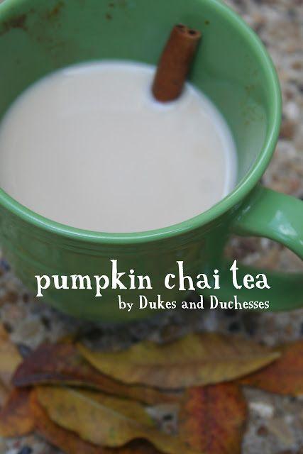 Pumpkin Chai Tea from Dukes and Duchesses