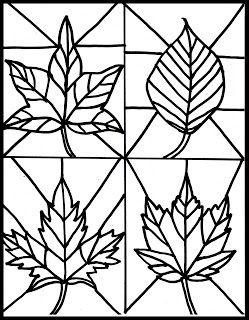 Stained Glass Leaves from Make It Easy Crafts