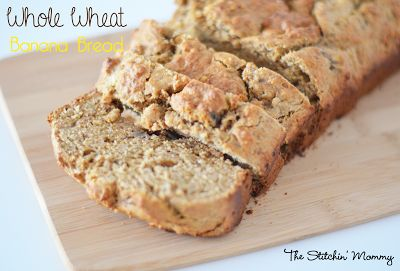 Whole Wheat Banana Bread from The Stitchin' Mommy