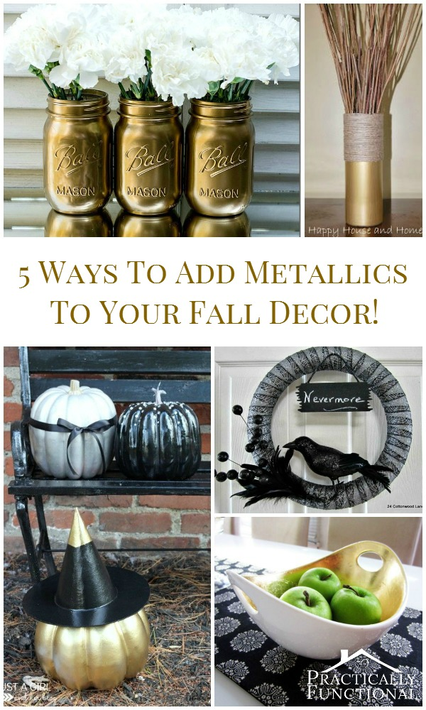 5 Ways To Add Metallics To Your Fall Decor