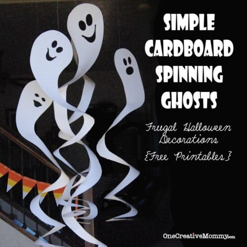 Cardboard Spinning Ghosts with free patterns from One Creative Mommy