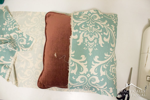 DIY Envelope Pillow Covers: Add a pop of color to your couch in under an hour!